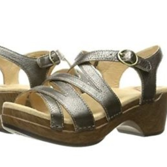 Dansko Stevie Pewter Napa Silver Women's Shoes